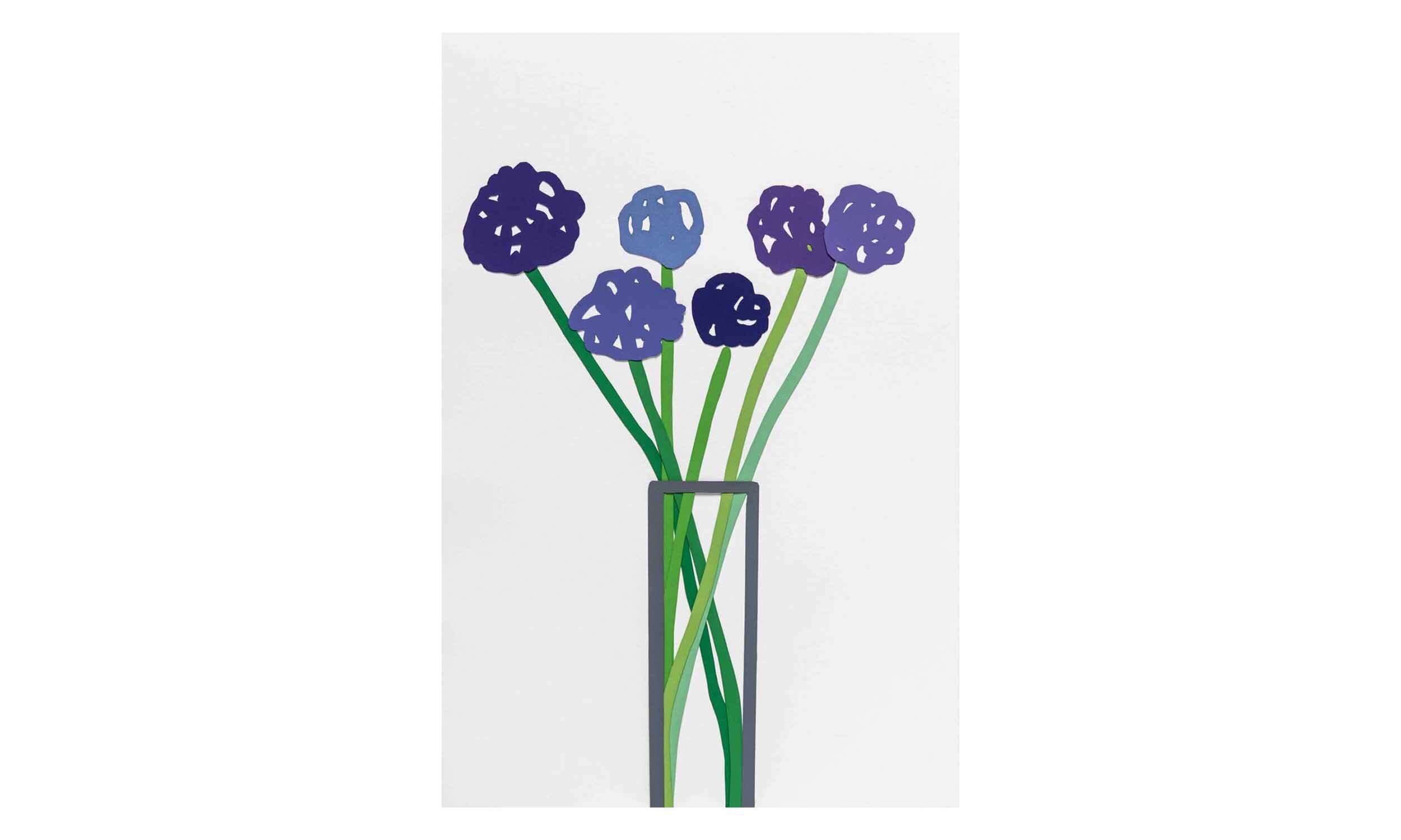 Alliums,  cout-out, collaged monotype on paper, 12 x 18 inches, unframed, $1,400    Contact us for purchase