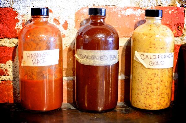 Habanero Raspberry, Smoqued & California Gold BBQ Sauces