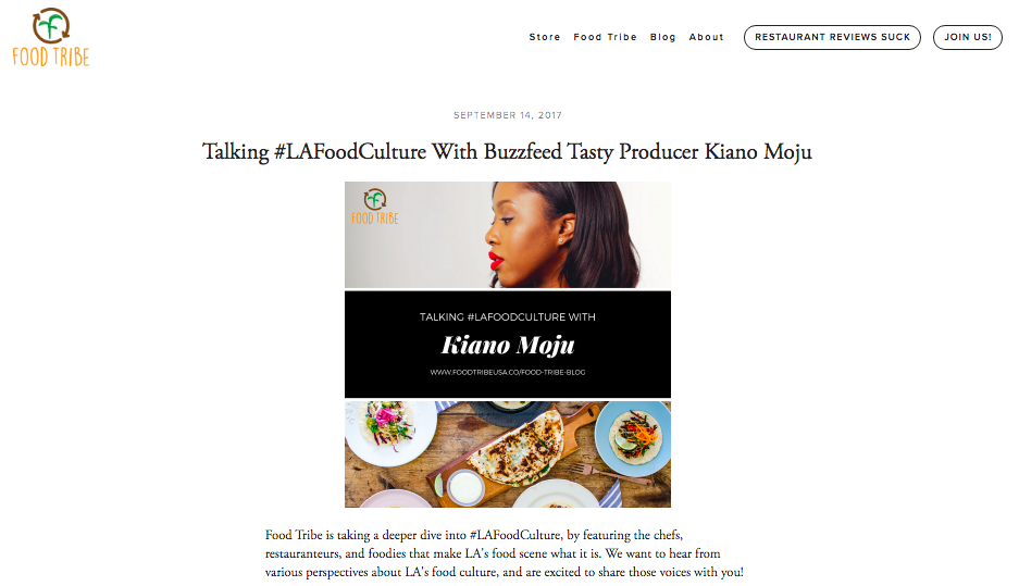 Food Tribe - Read the article here…