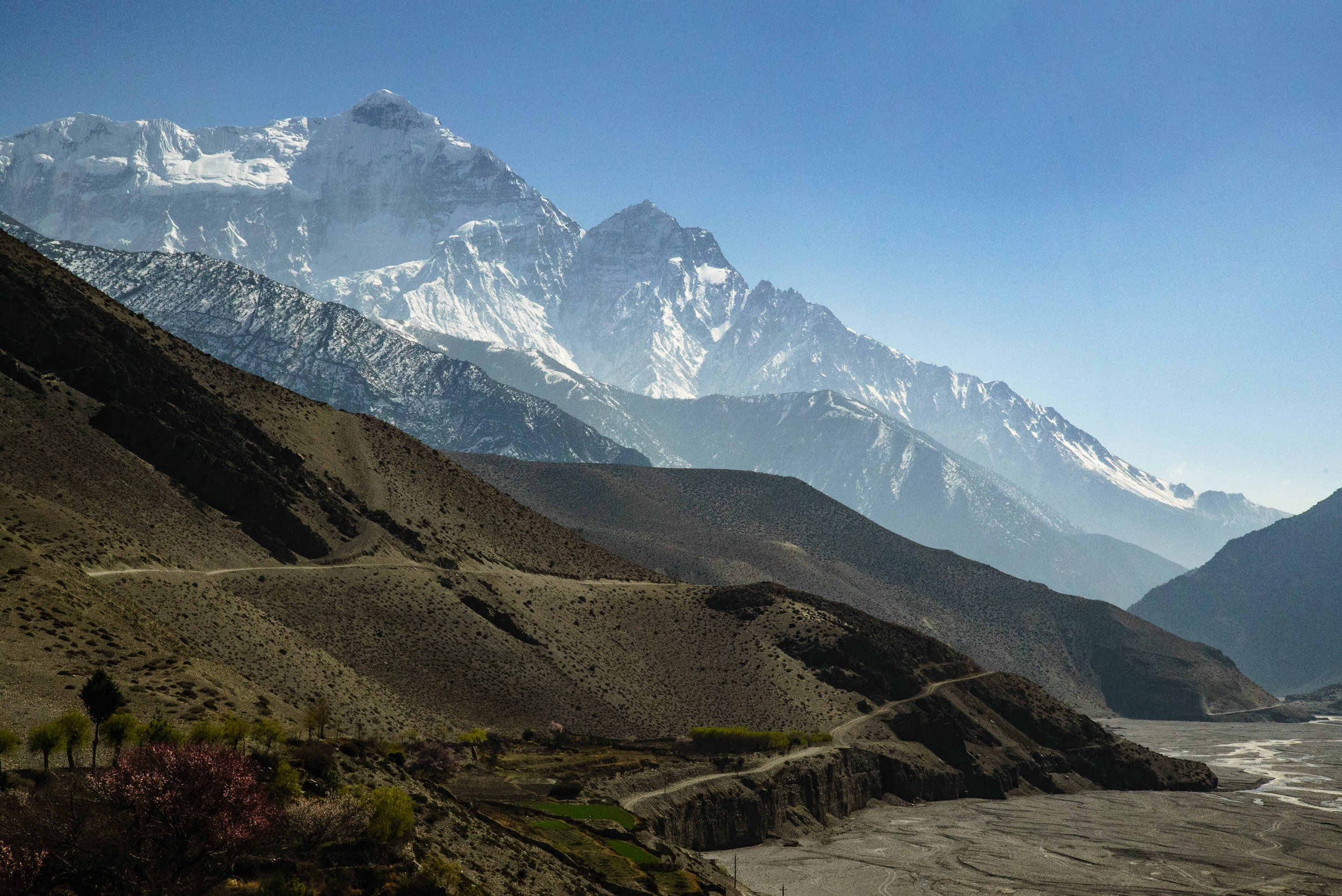 The way to Jomsom