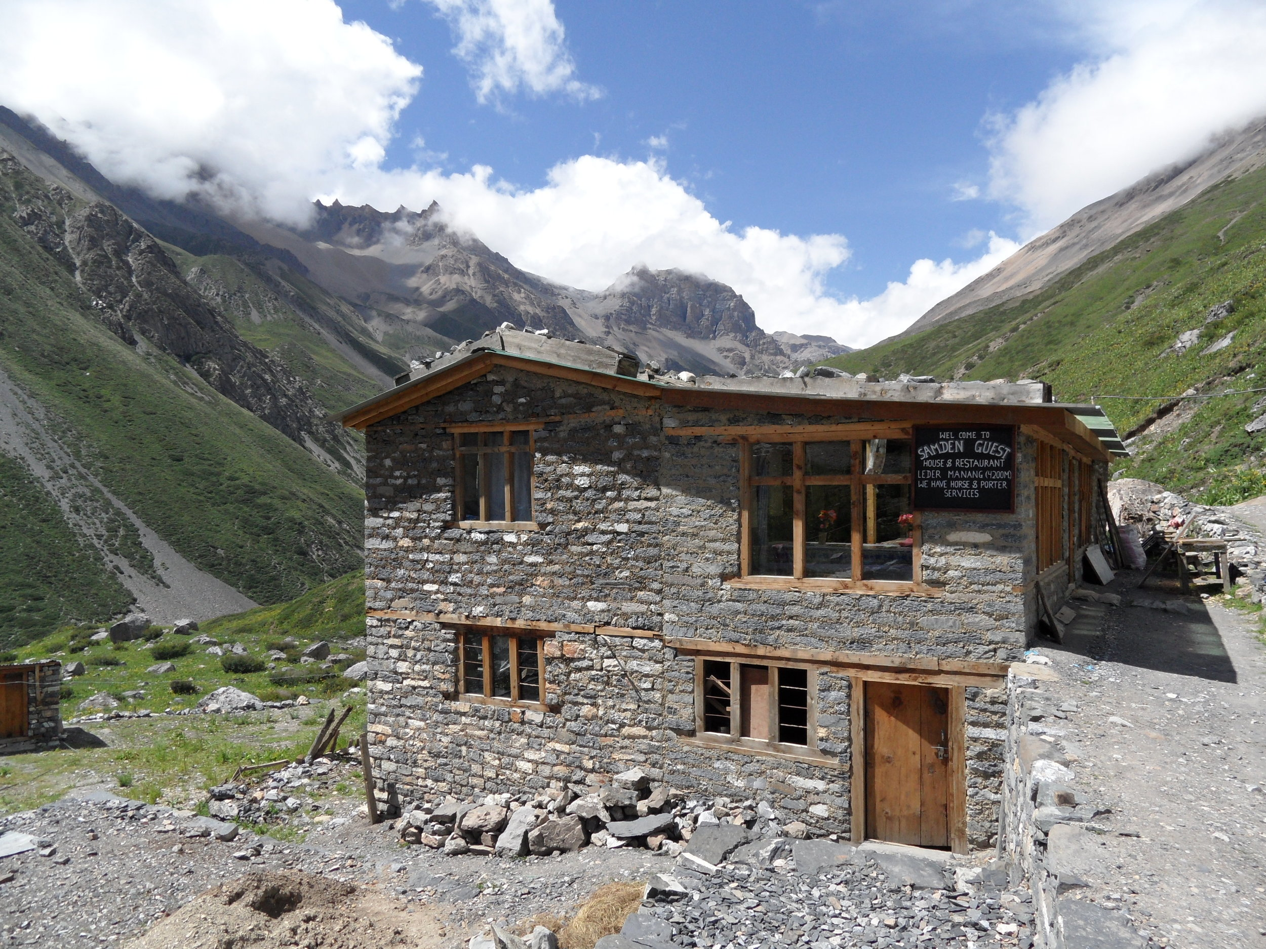 Mountain Lodge in Manang by Lilly