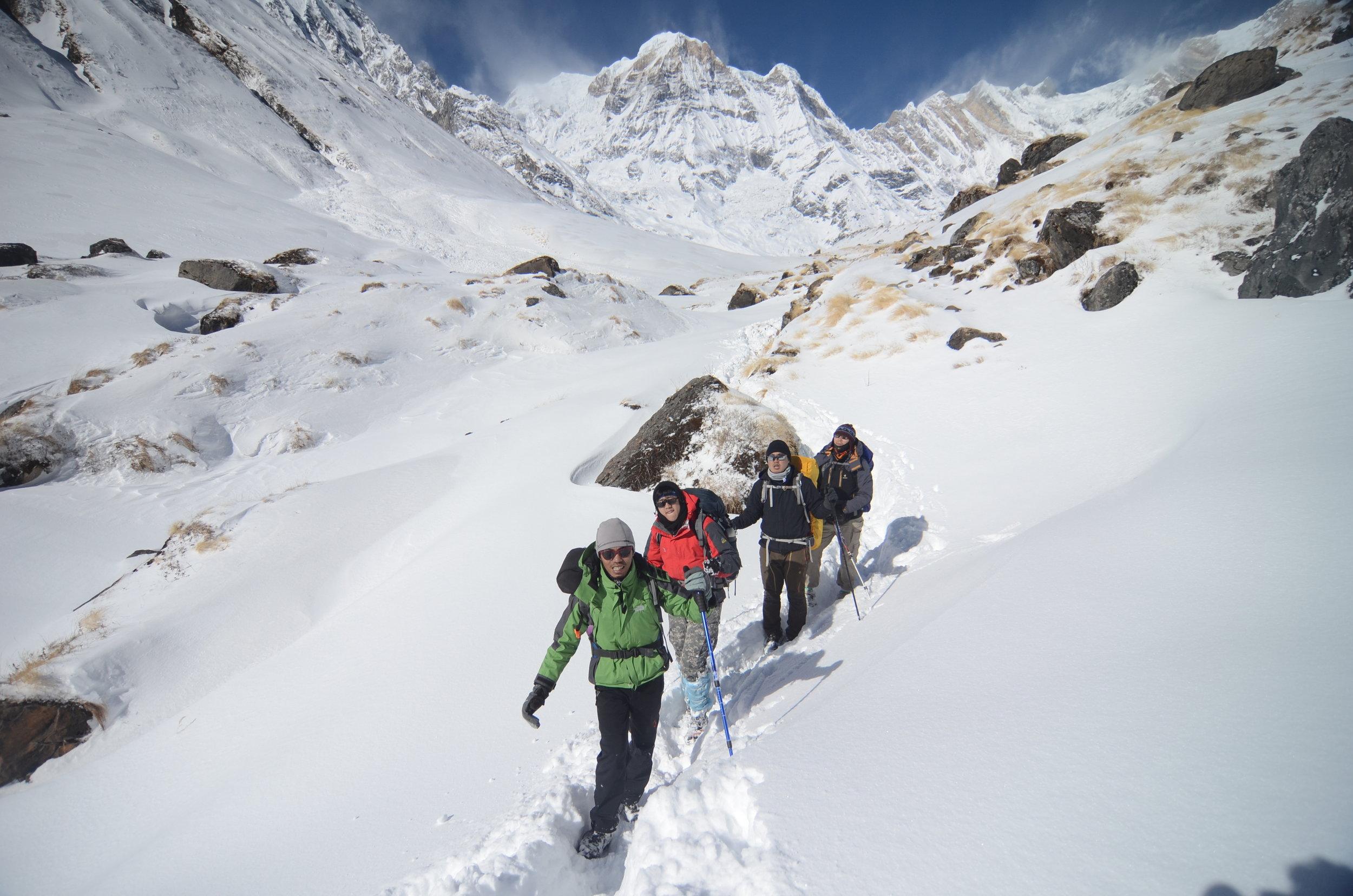 Way to Annapurna Base Camp by Udey