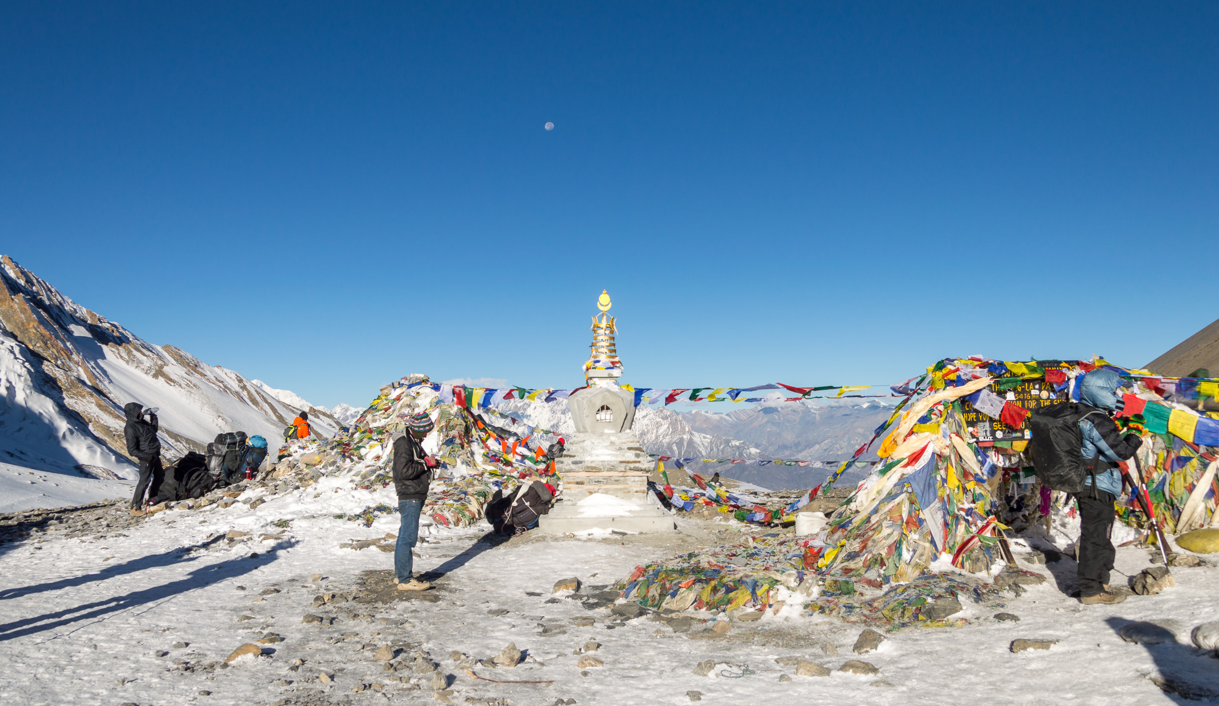 The top of Thorong La Pass 5416 m