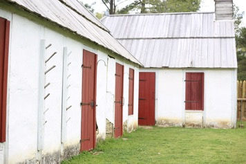Replica of French houses at Fort Toulouse