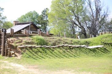 Partial replica of Fort Jackson