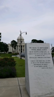 The Selma to Montgomery Voting Rights March Monument in Montgomery, Ala. Montgomery played a large role in American Civil Rights Movement.