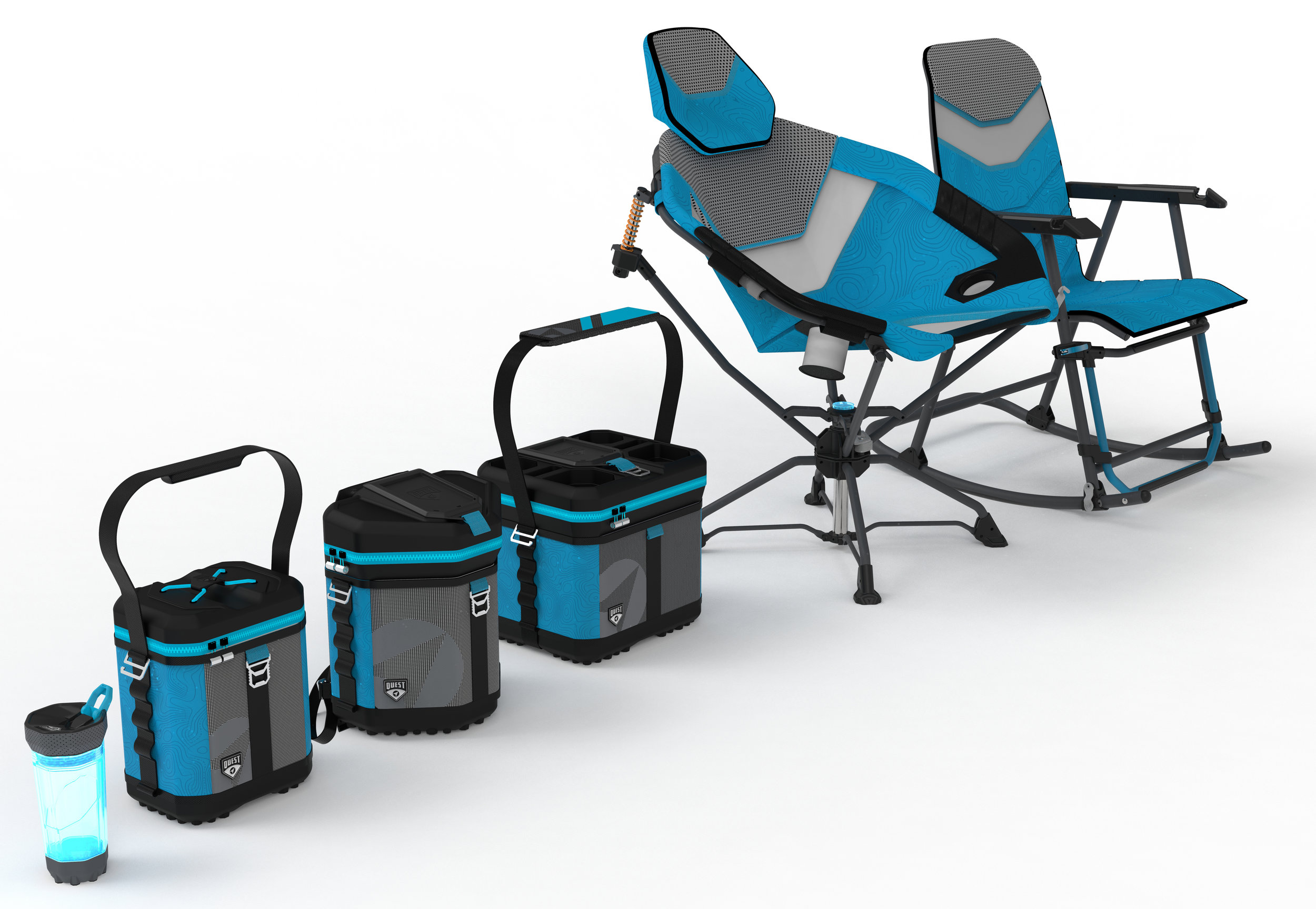 Quest - Athletic Inspired Food and Beverage Storage and Dynamic Movement Chairs