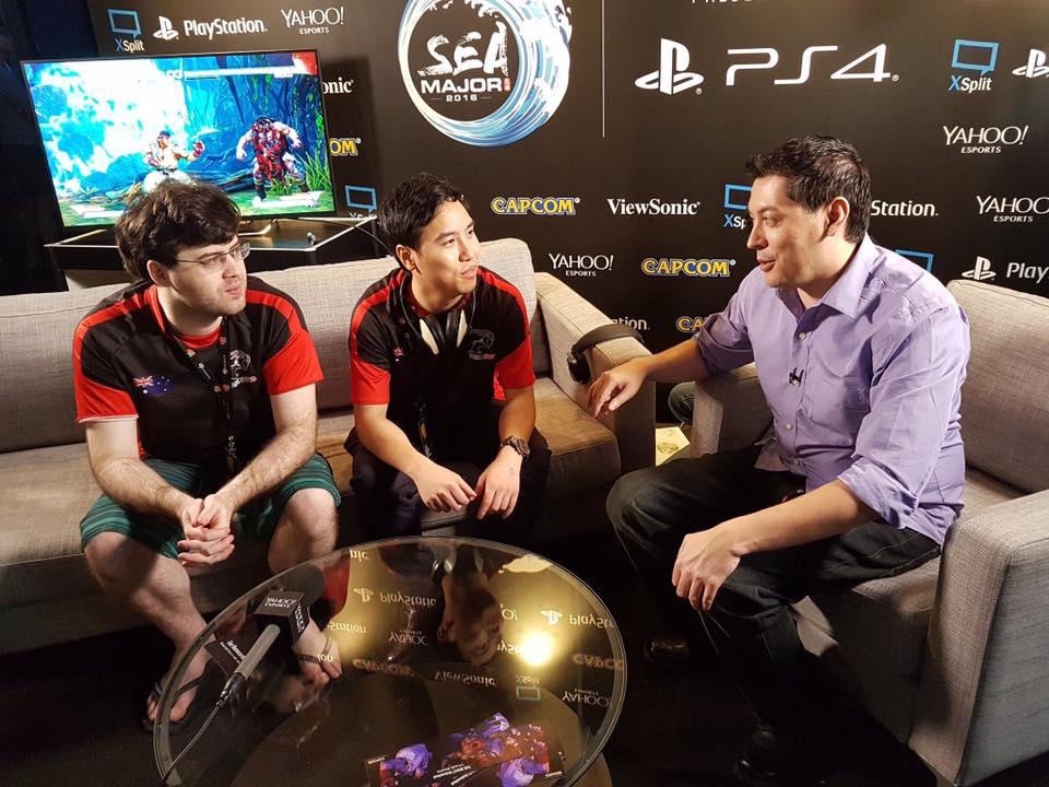 Yahoo Esports Michael Martin interviews Australia's Dark Sided Fighting Game Players Falco and ZG