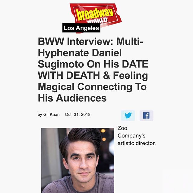 Inside the mind of writer @sugimation courtesy of @officialbroadwayworld... Enter at your own risk... #MyDateWithDeath opens Nov 10th! . . #thezootheatre #datewithdeath #lathtr #newmusical #musicaltheatre #broadwayworld #writer #composer #losangeles #latheatre #lamusical #newwork #sugimation #halloween #reaper #ladydeath #philosophy #thingsgetreal #realtalk #inside #personal #struggle #thetrevorproject #dayofthedead