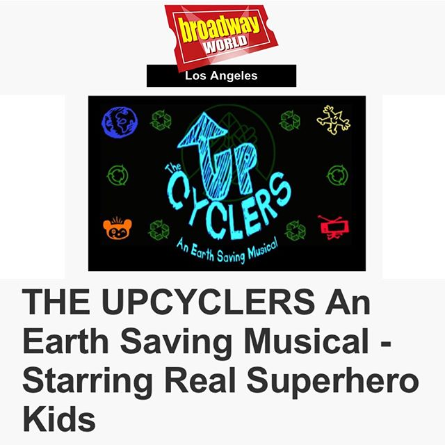 Real-life superhero kids are bringing the Earth Saving Musical to Santa Clarita Valley to inspire everyone to be a hero everyday! ✨ . . Join the super adventure with this toe-tapping Musical this Friday and Saturday at 7:00pm! Info at link in @upcyclers_ bio! . . See the full article at @officialbroadwayworld  #newmusical #noplanetb #climateaction #beahero #superherokids #comiccon #superherocosplay #broadwayworld #losangeles #musicaltheatre #scvitheatre #lathtr #newwork #youngactors #santaclarita #katiehill