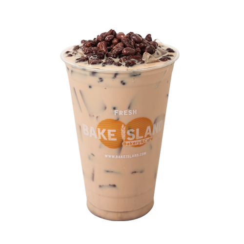 - Red Bean Milk Tea