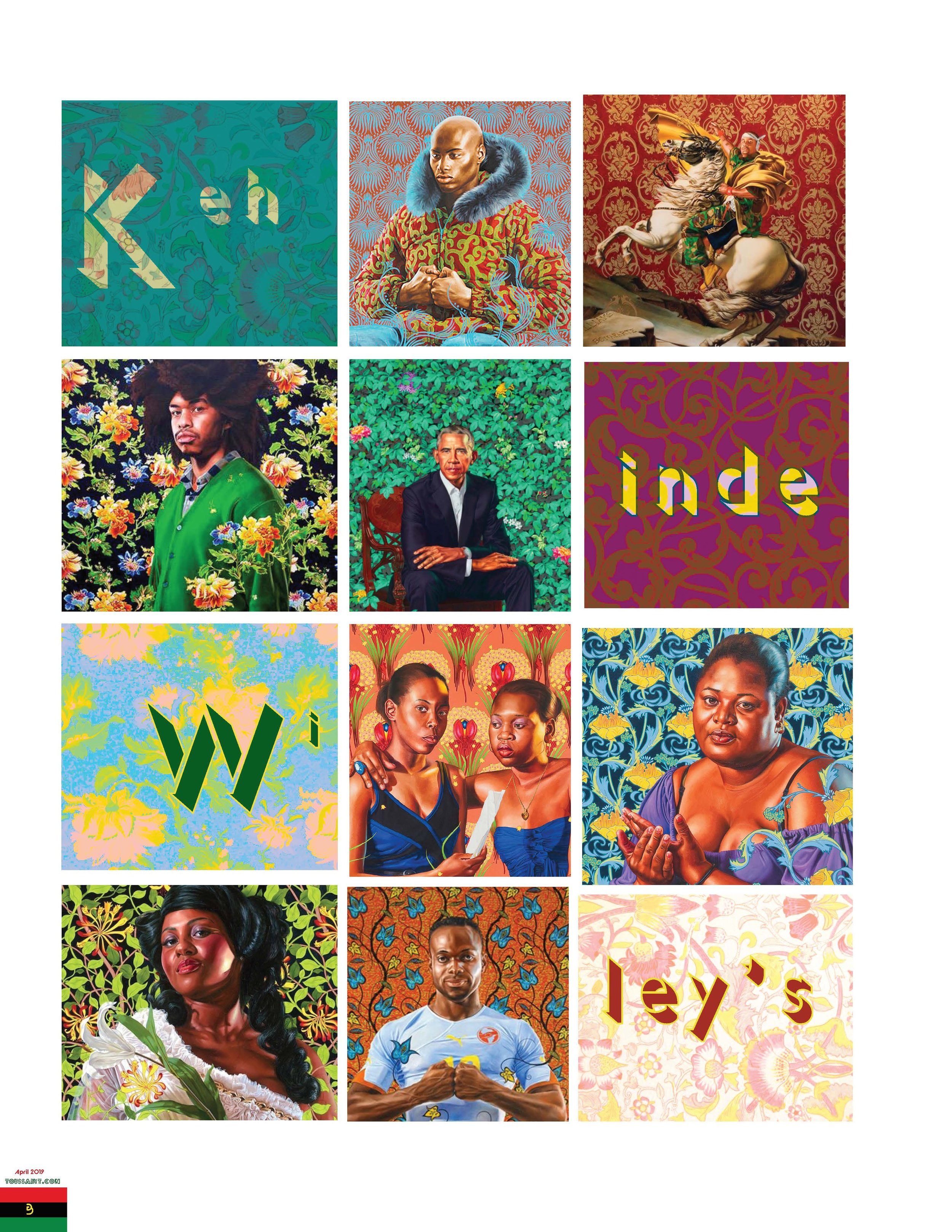 A Kehinde Wiley article for the Front of The Book I