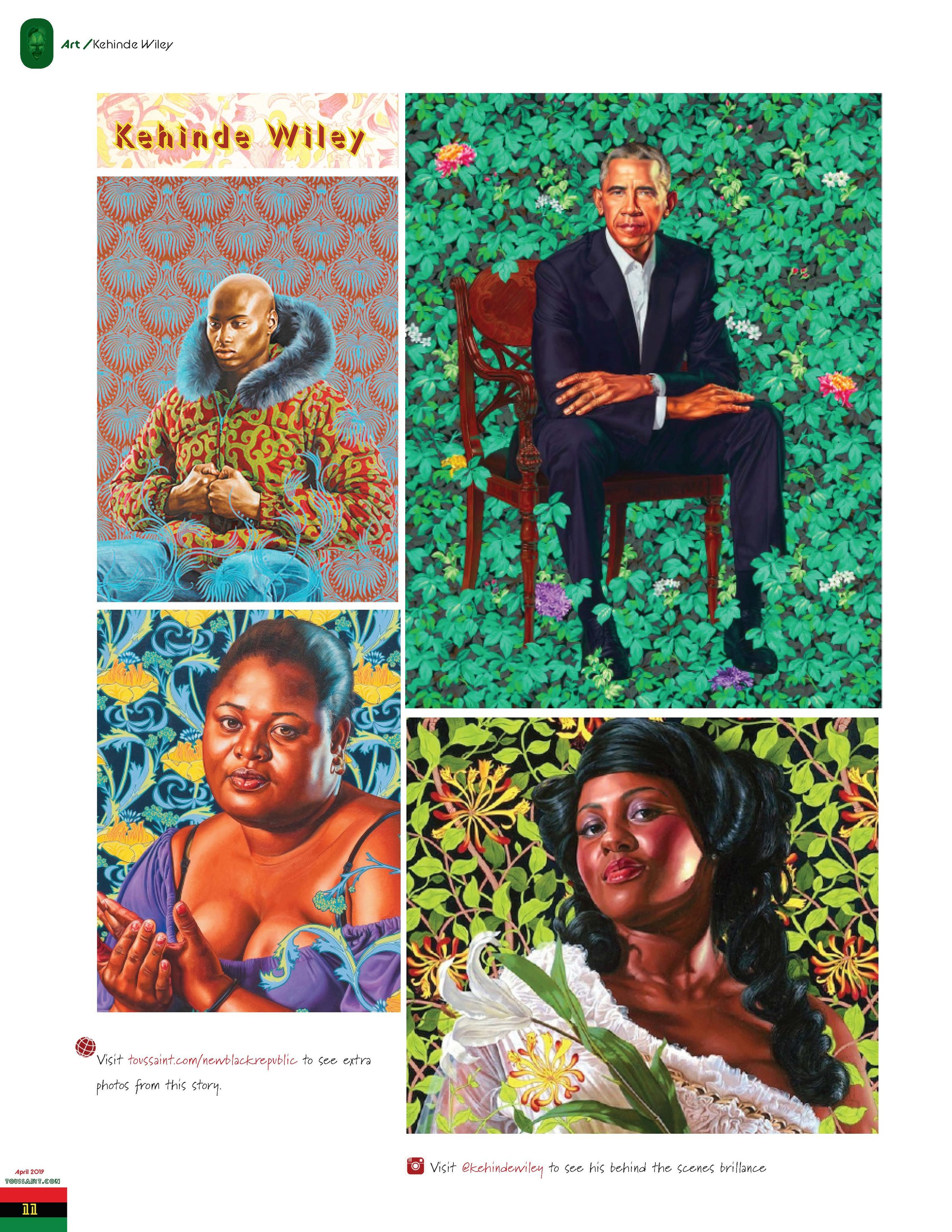 Second attempt at Kehinde Wiley's article