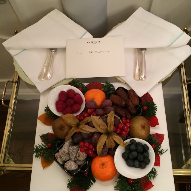 Our welcome bowl of fruits.