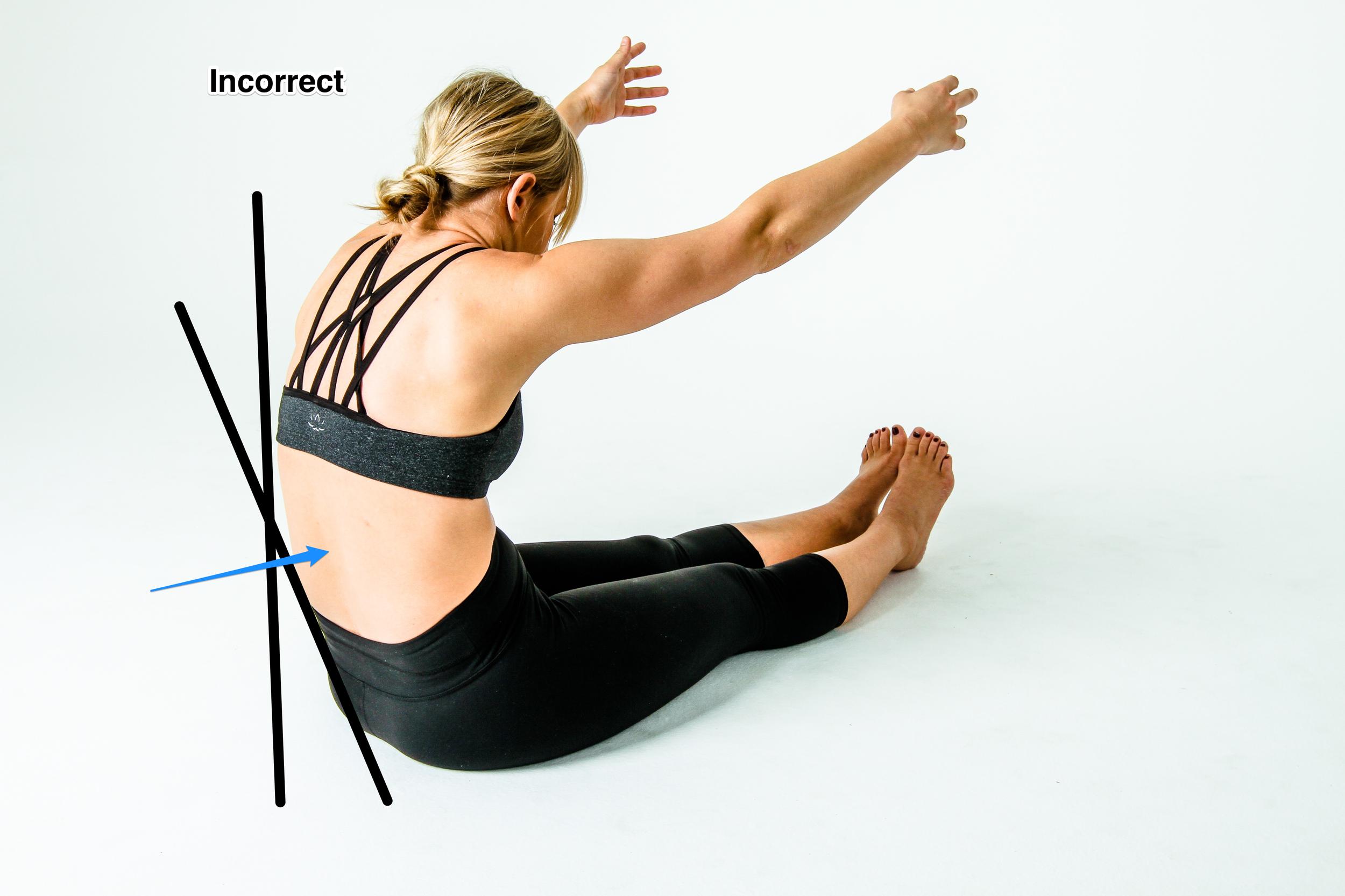 Posterior Pelvic Tilt during a Hamstring Stretch