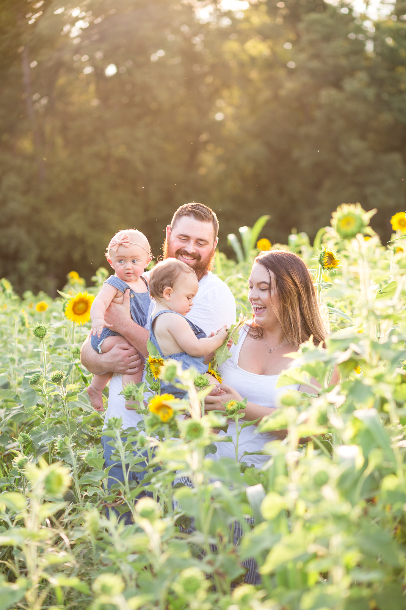 Chesterfield Virginia Sunflower Portrait Session
