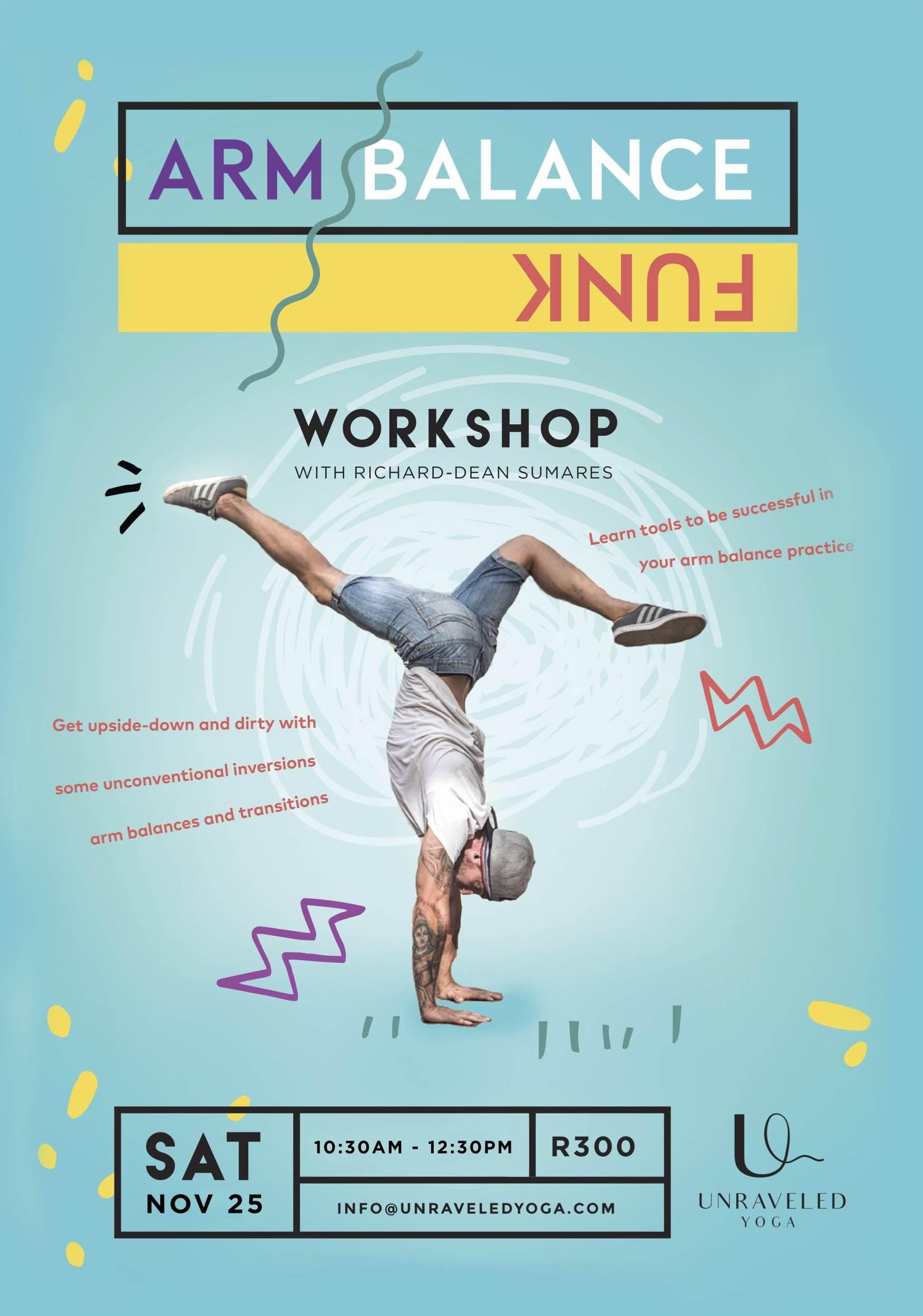 yoga arm balance funk