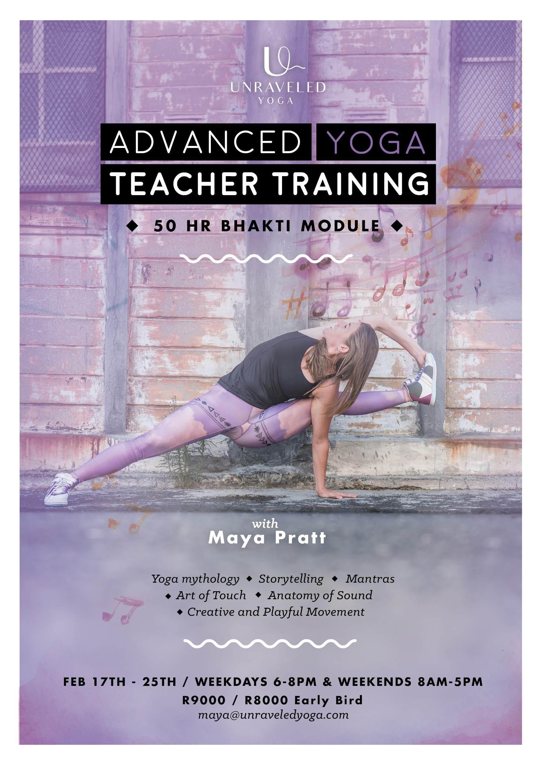 advanced yoga teacher training bhakti yoga cape town