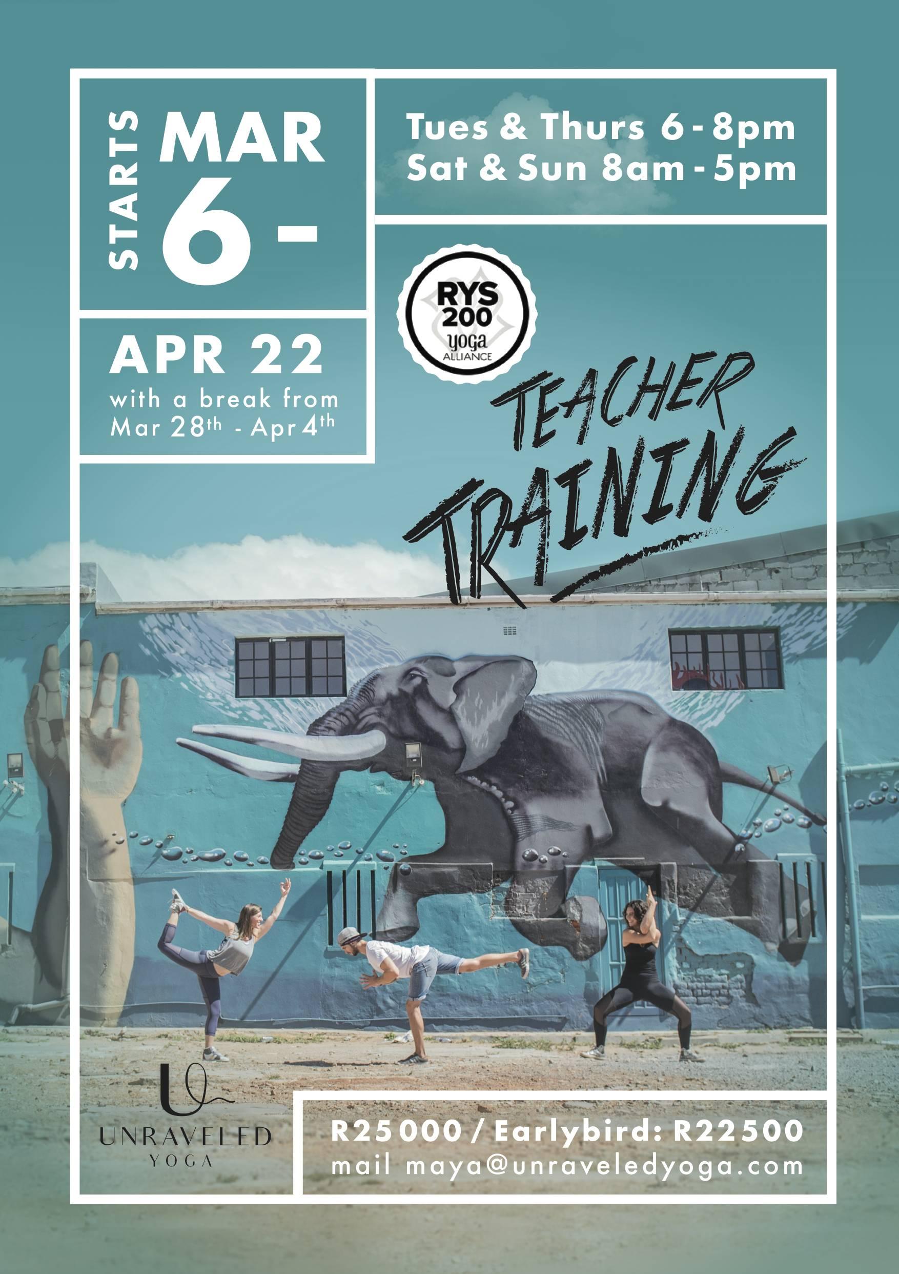 yoga alliance 200 hour teacher training cape town