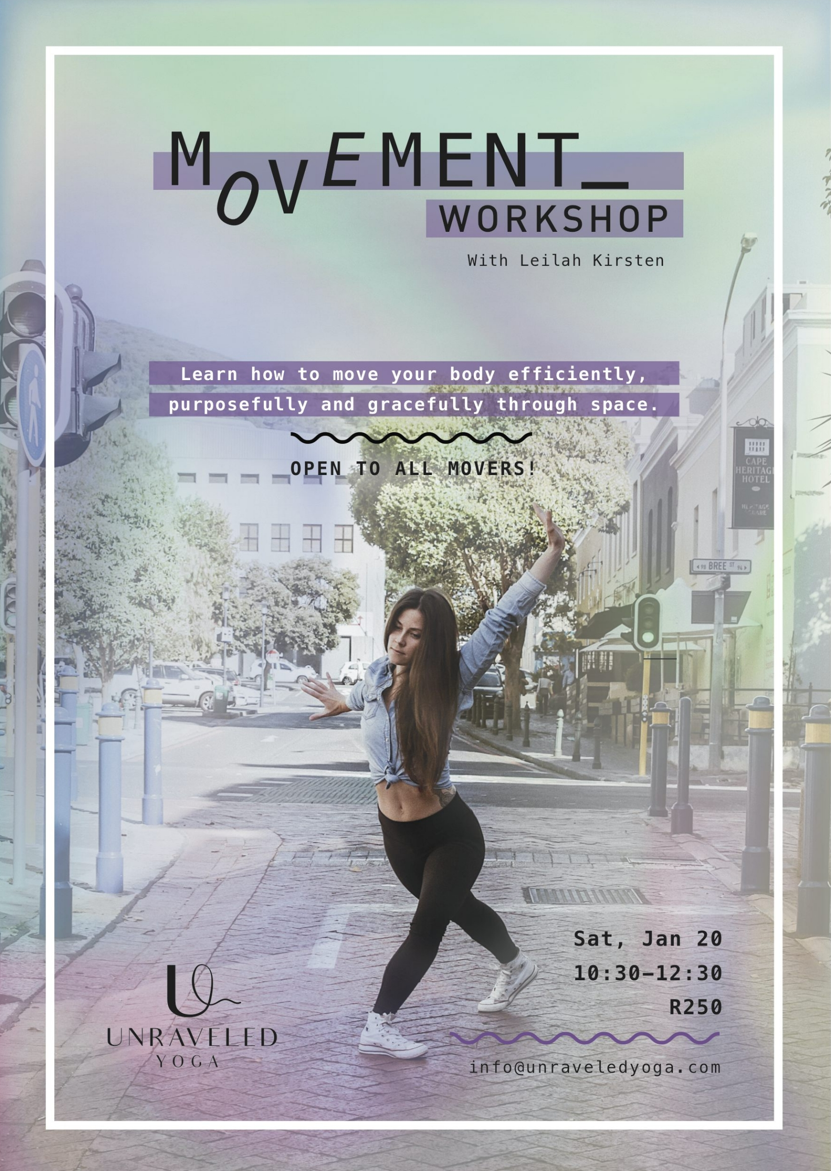 contemporary dance movement workshop cape town