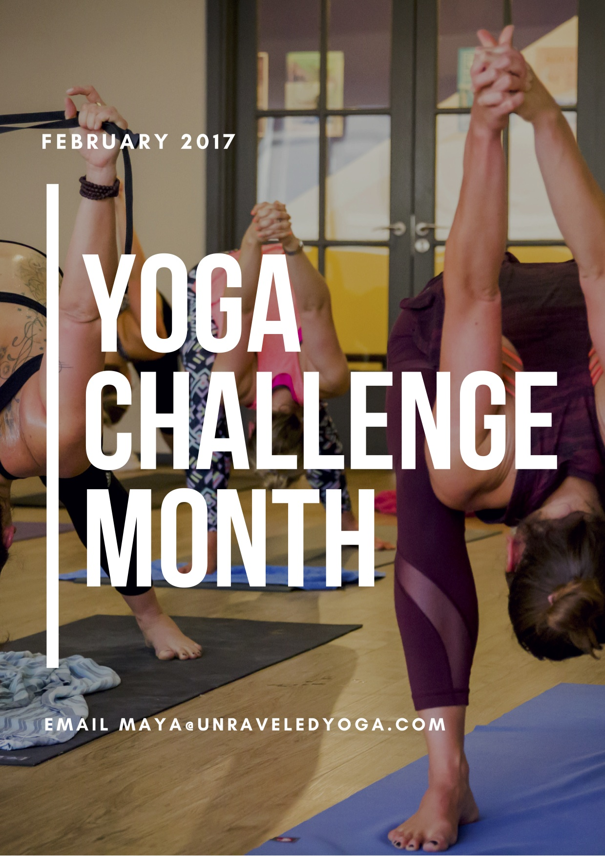 30 day yoga challenge february month challenge
