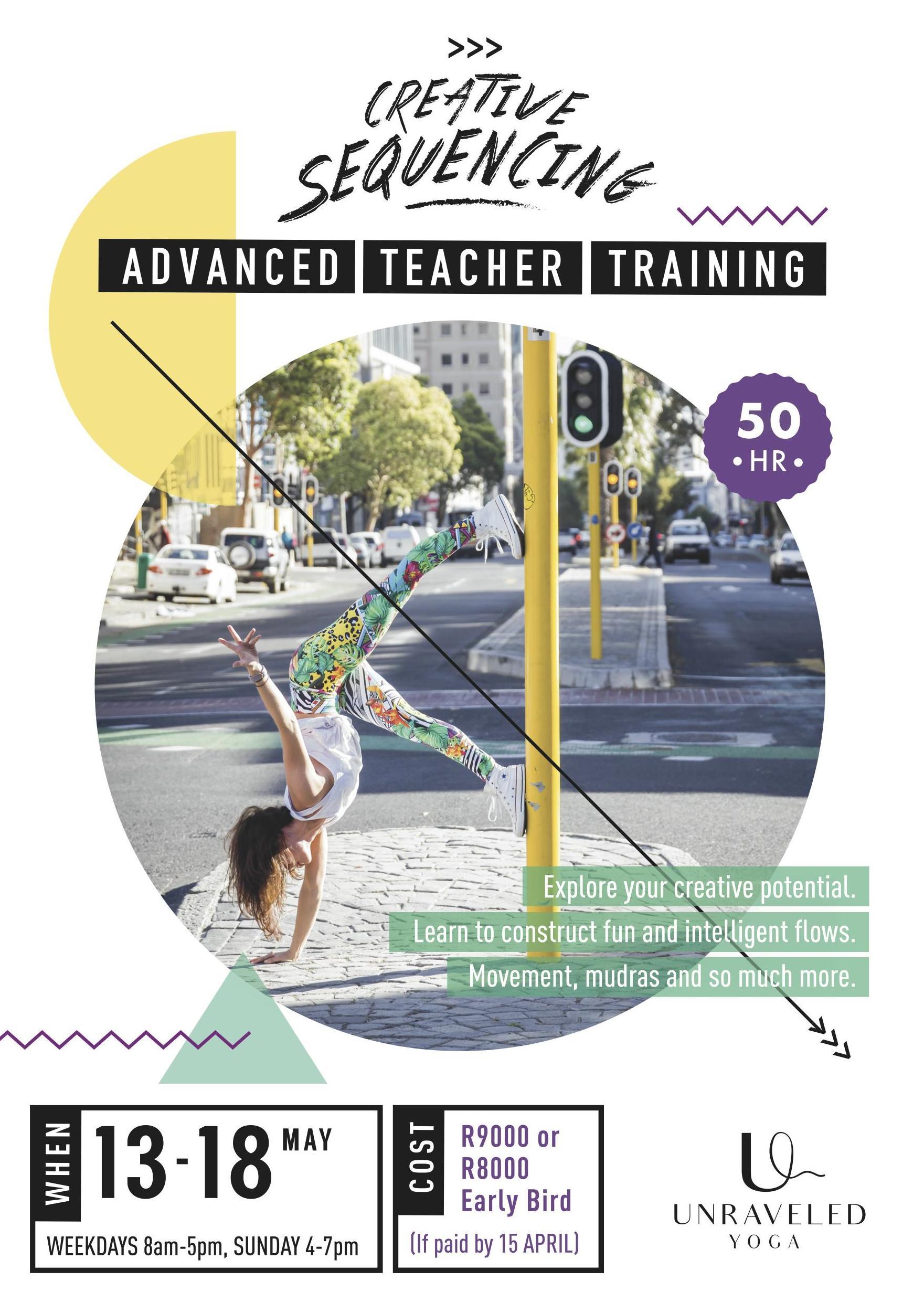 advanced teacher training creative sequencing cape town