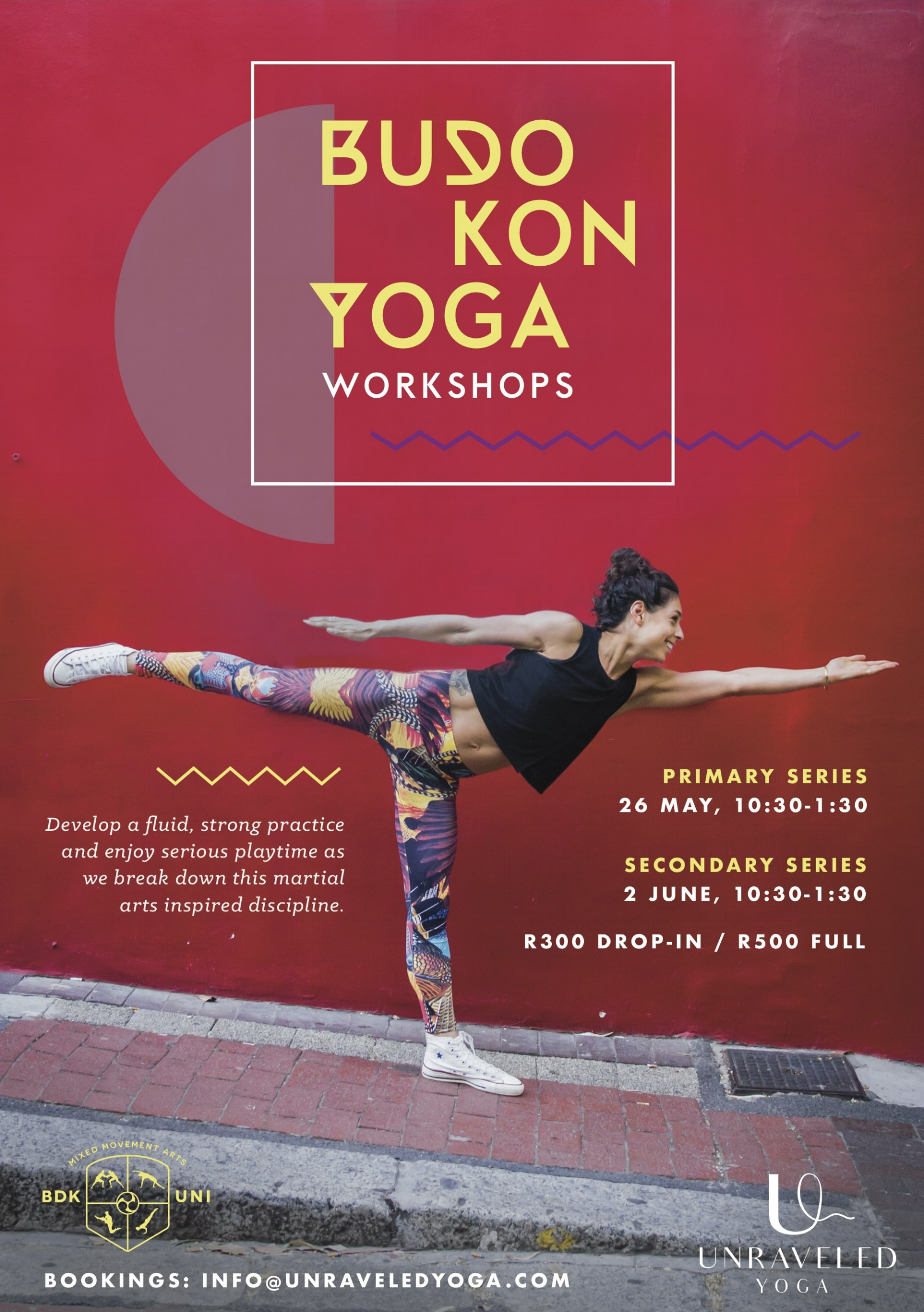 budokon yoga primary secondary series workshop cape town