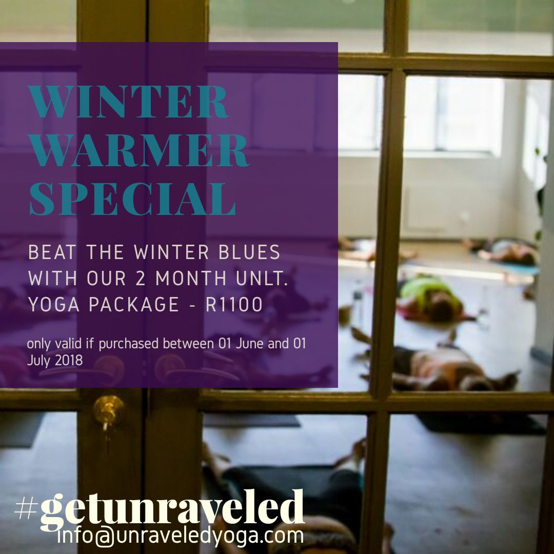 winter warmer yoga special deal cape town