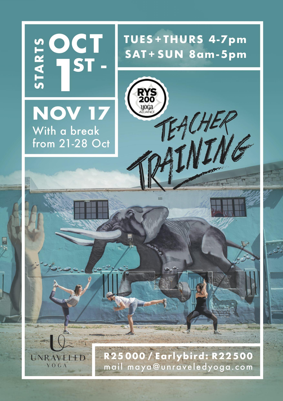 200 hour yoga alliance vinyasa teacher training cape town part time