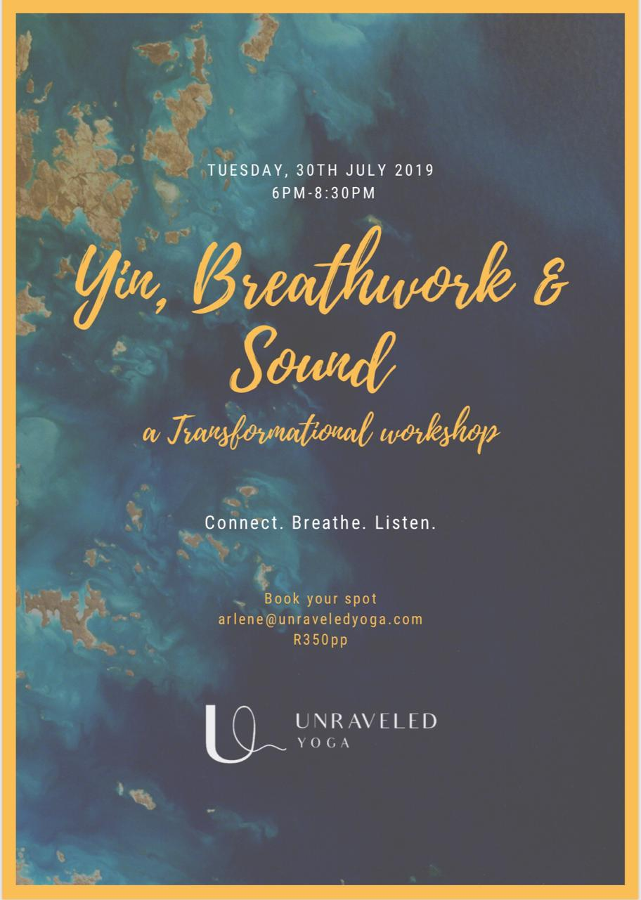 sound breathwork and yin yoga workshop cape town
