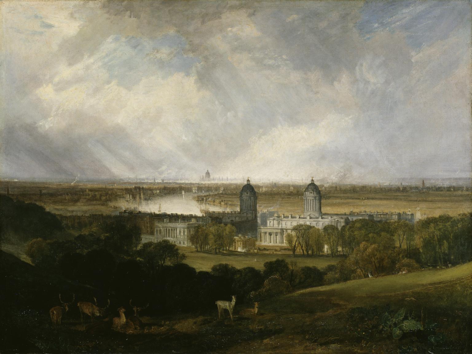 View from Greenwich Park  de William Turner