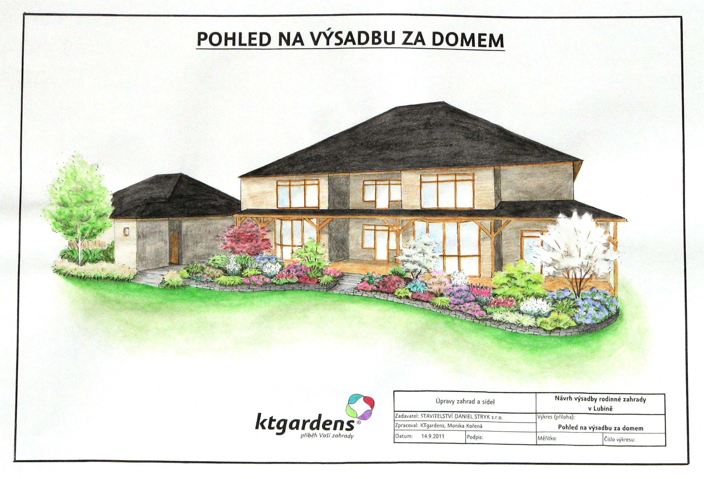 Návrh zahrady v Lubině, americká zahrada, KTgardens