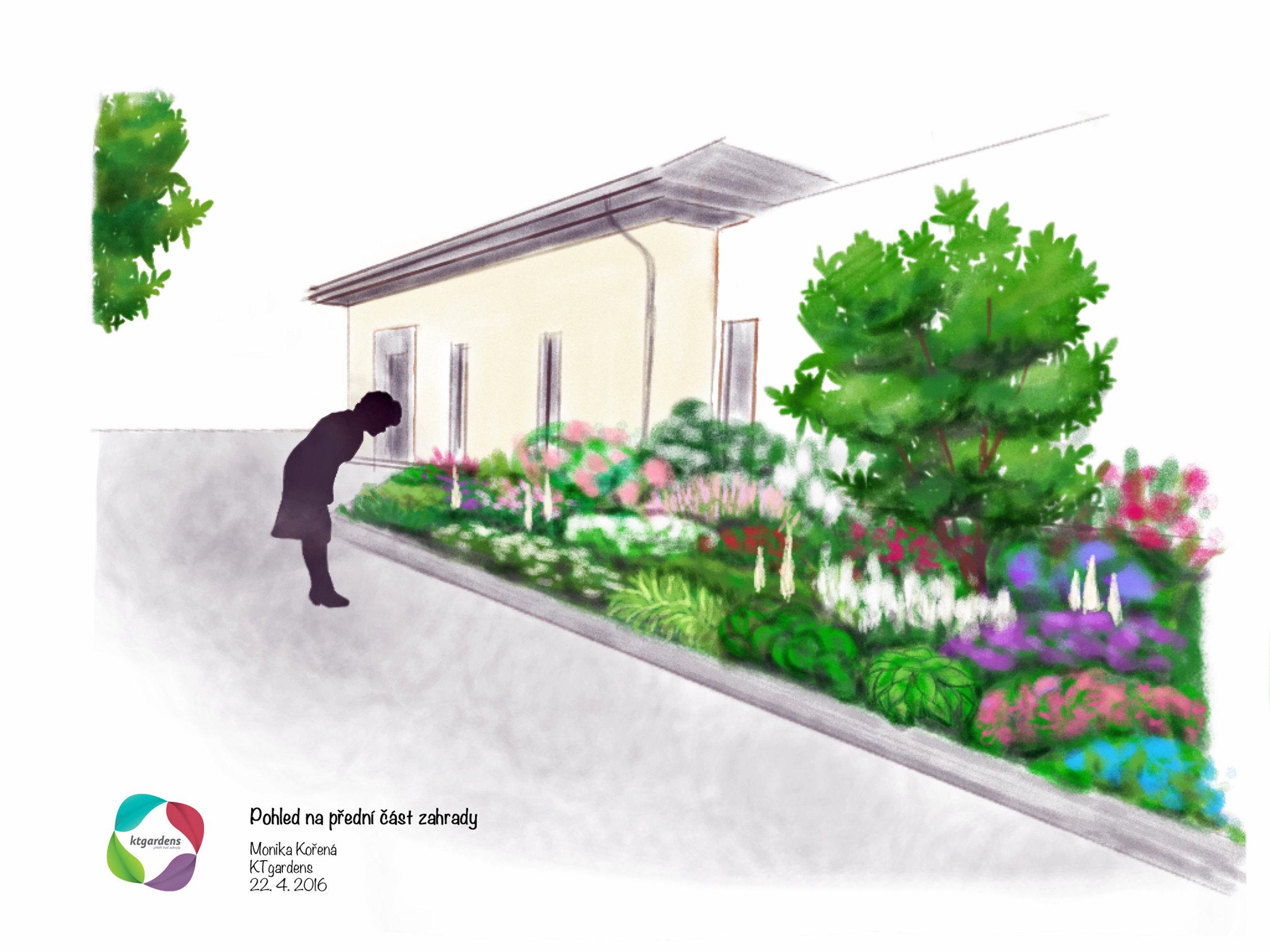 Návrh zahrady v Heřmanicích, venkovská zahrada, přírodní zahrada, KTgardens