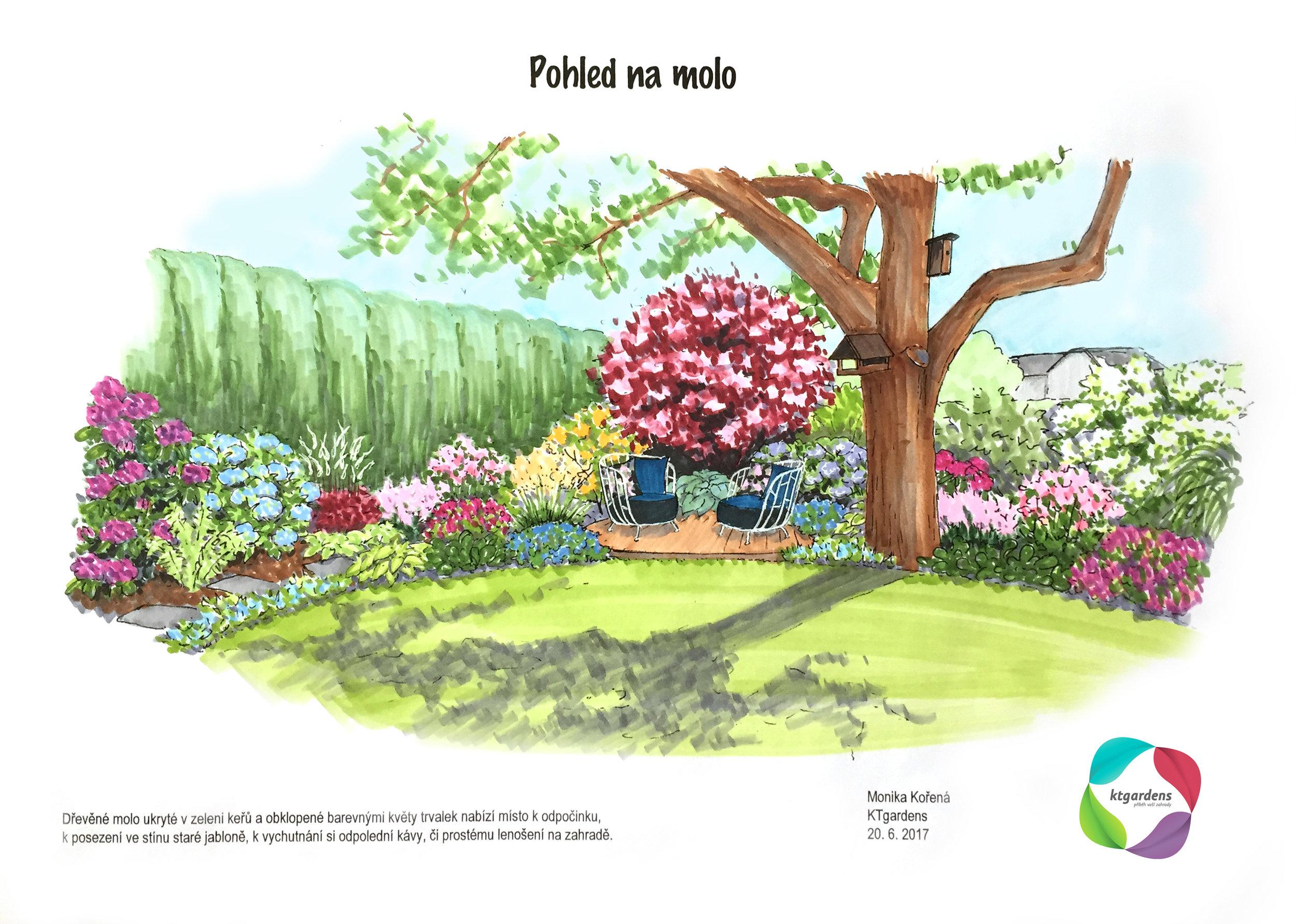 Návrh zahrady v Polance nad Odrou, malázahrada, venkovská zahrada, KTgardens