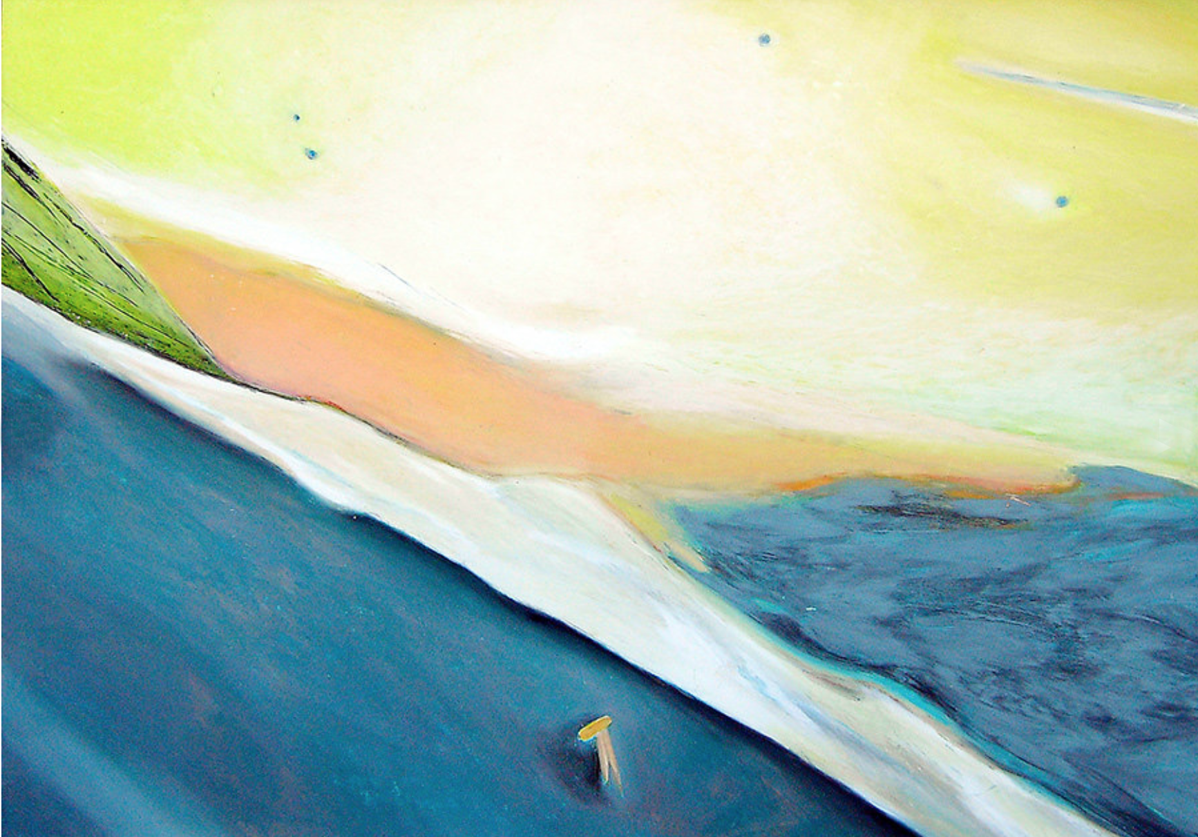 "Margret Storck, ""Reason for Living"", 2003, 11x15 cm, Pastel/Cire"