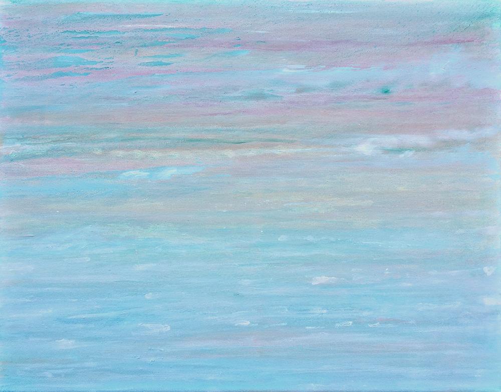 """GULDEN, """"wenn aus dem Himmel ... (Hölder...)"""", Öl/Leinwand, 2018, 40x50 cm"""
