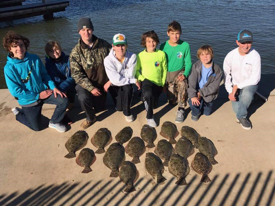 8 man limit of Flounder Caught in the canals of Laguna Harbor in November 2016