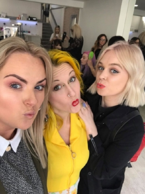 There is always times for a selfie! Ashley with Sophia and Harriett