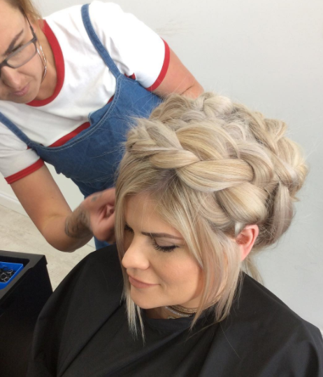 Mastering the 'Halo Braid' - a look featured at our Braid Bar