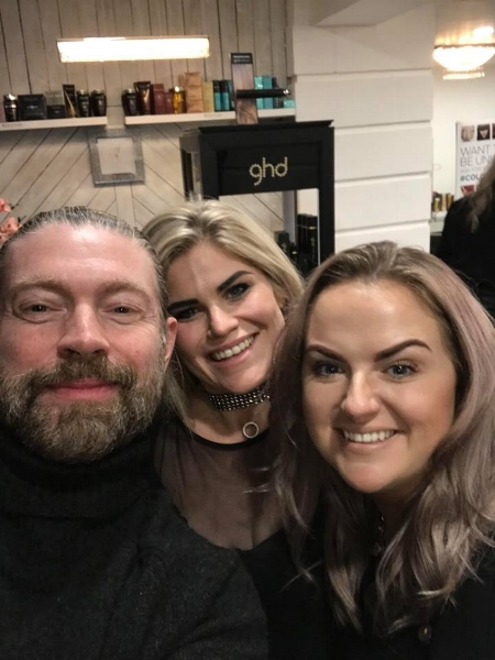Always time for a selfie! Lee, Fiona (Master Stylist) & Ashley (salon owner)