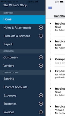 You can't do everything on QuickBooks Online's smartphone app that you can do in the browser-based version, but there's a surprising amount of functionality here.