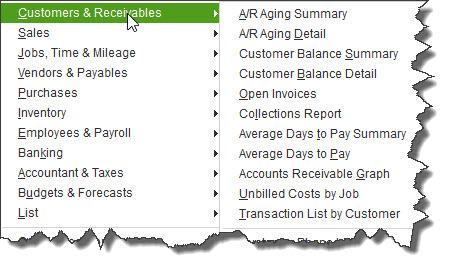 QuickBooks contains dozens of templates for pre-formatted reports that you can customize and create very quickly.