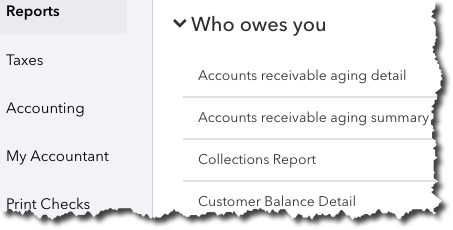 QuickBooks Online has many reports that can provide real-time, in-depth insight into your company's financial health