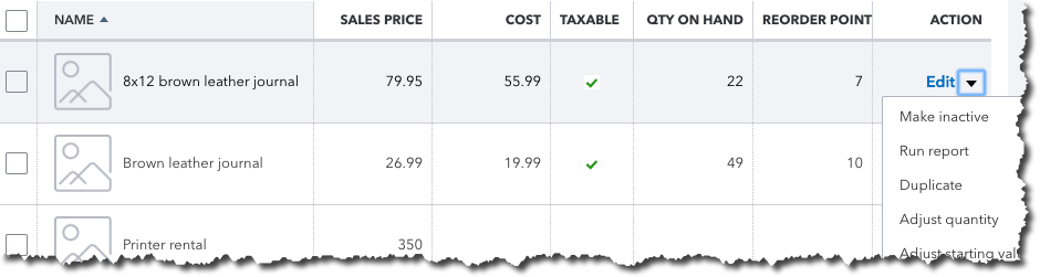 It's easy to evaluate your inventory status very quickly in QuickBooks Online.
