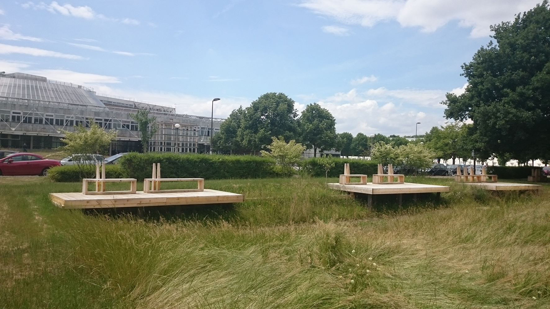 Jardin de la cité Descartes - les terrasses