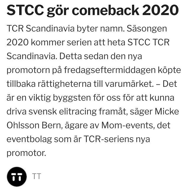 Spännande nyhet som presenterades idag. En fullsatt pressträff med över 100 personer och ett stöd för svensk racing utan dess like. Vi ser framemot att ta oss an denna utmaning. #stcc #fullgas