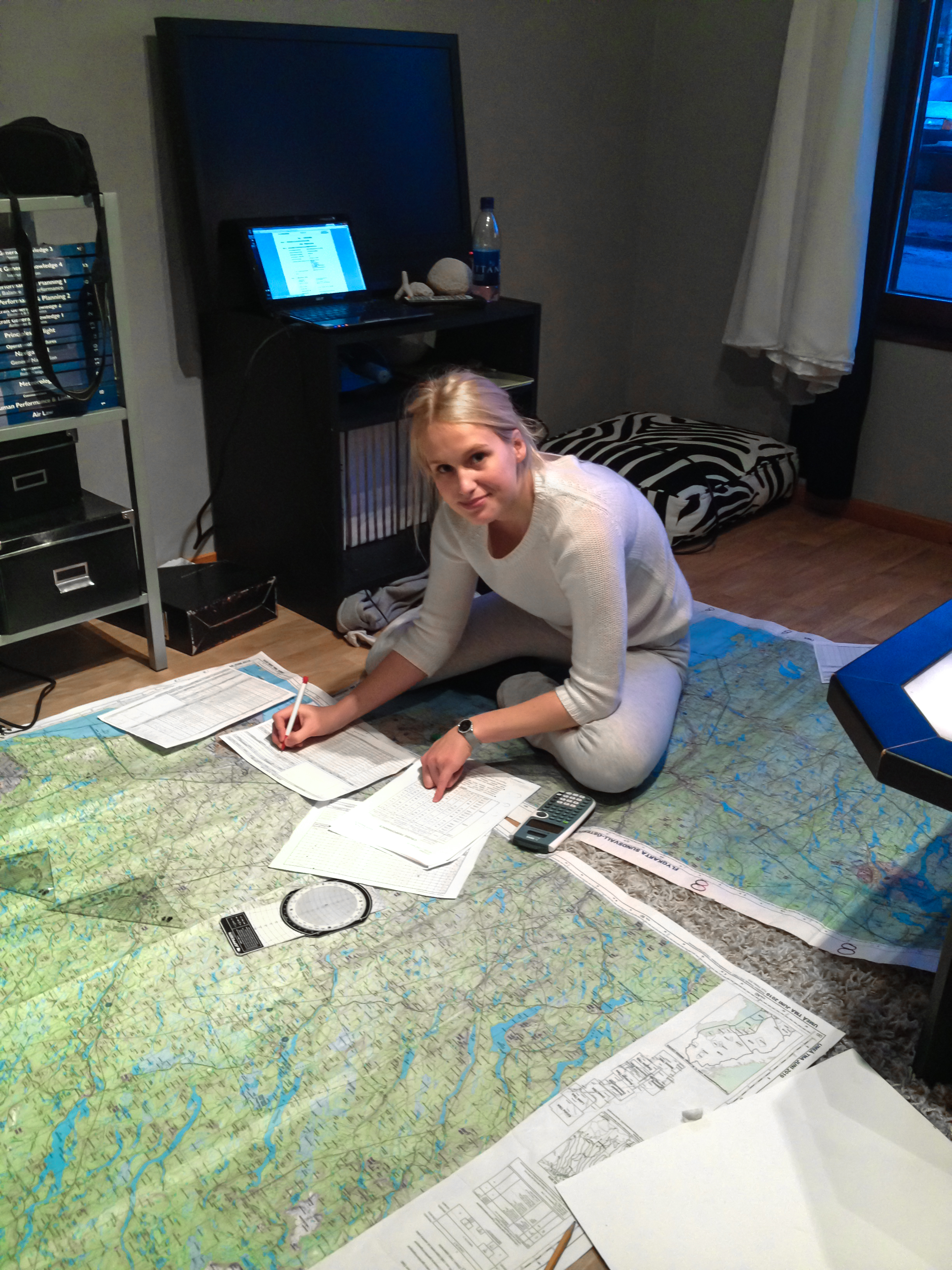 Planning a flight route in north of Sweden