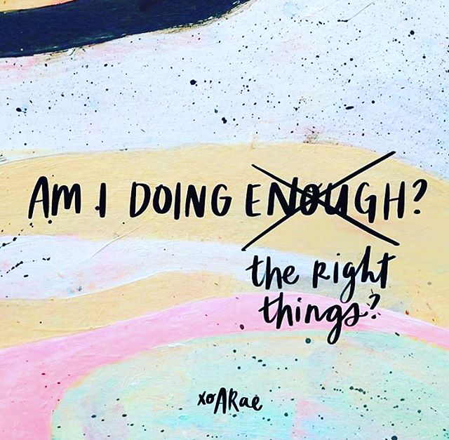 "I've been stressing out over this a lot lately - the ""am-I-doing enough"" part. Am I working enough? Am I productive enough? Am I socializing enough?  Am I working out enough? I have no doubts I am eating enough 🙈. Seriously though, seeing this question reframed by @heyamberrae changed everything you guys! Reframing our problems is how we get unstuck. Reframing helps us make sure that we are asking the right questions and finding the right solutions. I don't have answers yet. But next time the worry voice creeps up in my mind (it happens very often), I'll pause, reflect and reframe. I hope you do too 💫. . Find out how you can #ChooseWonder Over Worry in Amber Rae's new book. I'm literally obsessed with it! . . 📸: by Amber Rae"