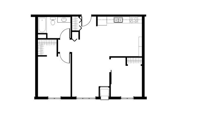 2 cuartos · 1 baño · 864 pies cuadrados ·