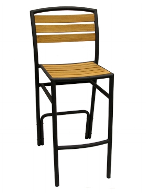 Curacao Armless Bar Stool Black Pepper